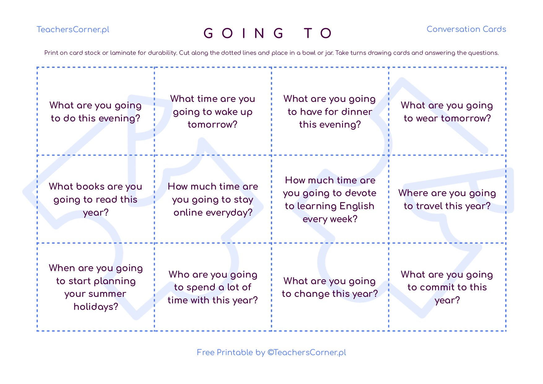 going to conversation cards