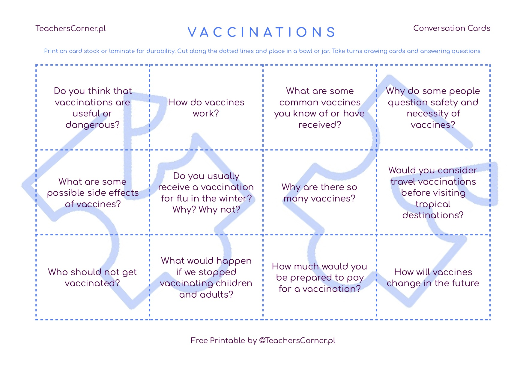 Conversation Cards - Vaccinations