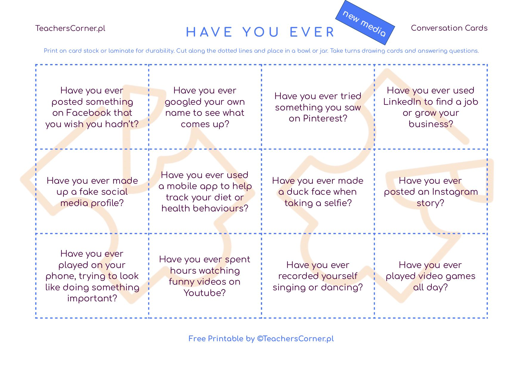 Have you ever Conversation Cards