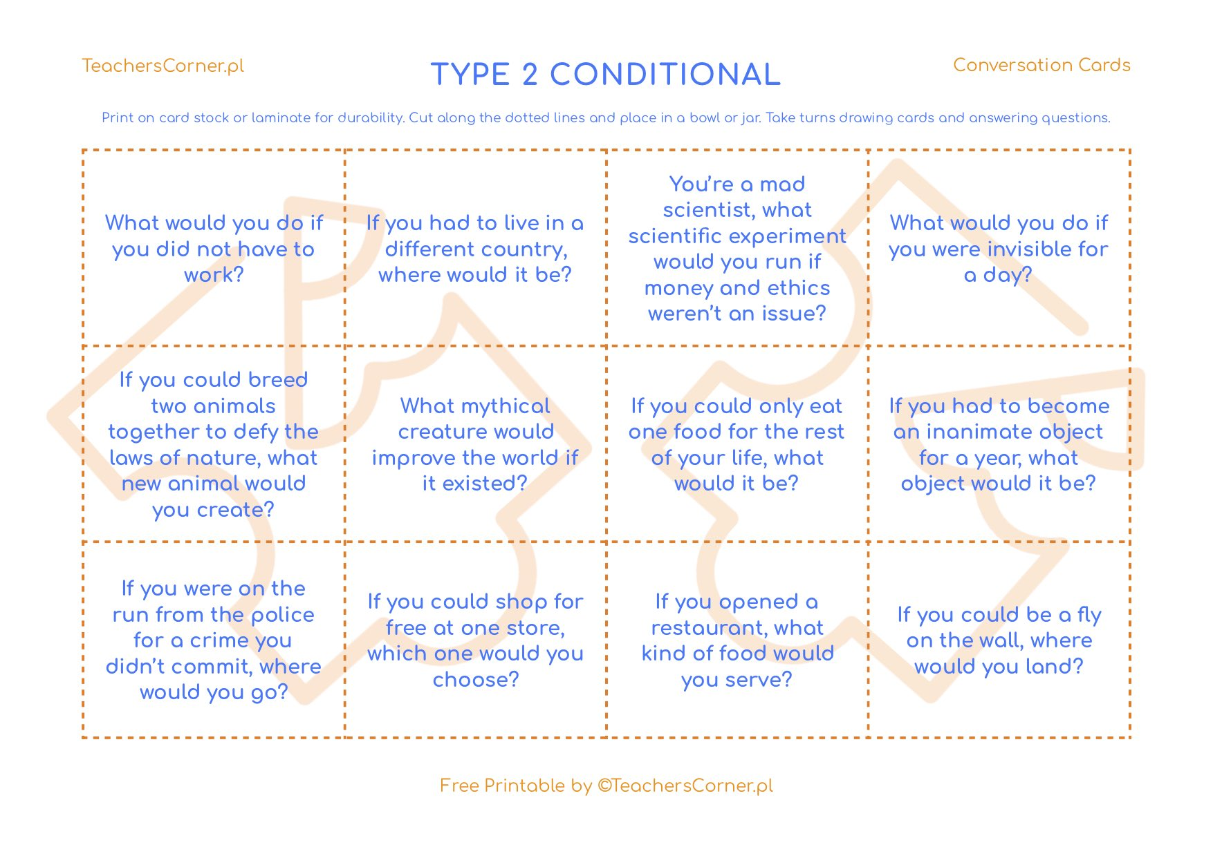 type 2 conditional conversation cards