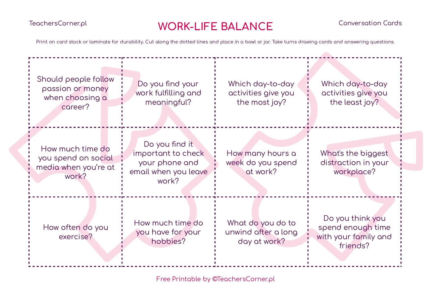 work-life balance conversation cards