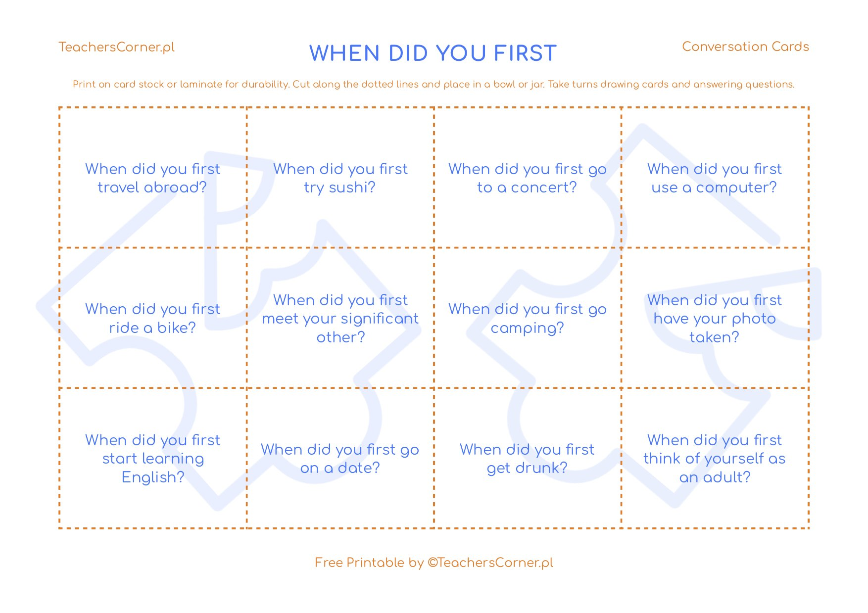 When did you first Conversation Cards