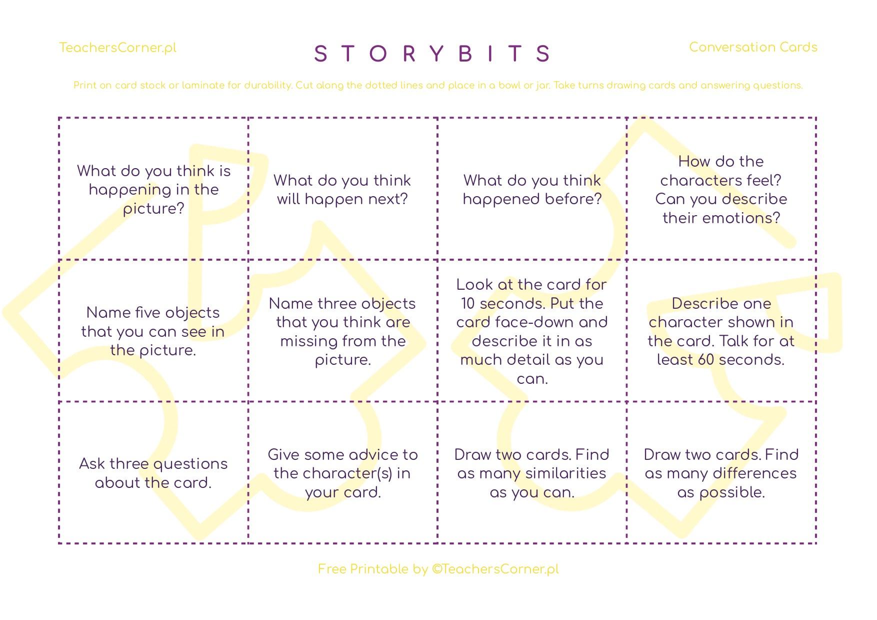 StoryBits Conversation Cards