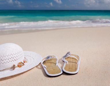 uzbierałaś tylko na plażowe klapki
