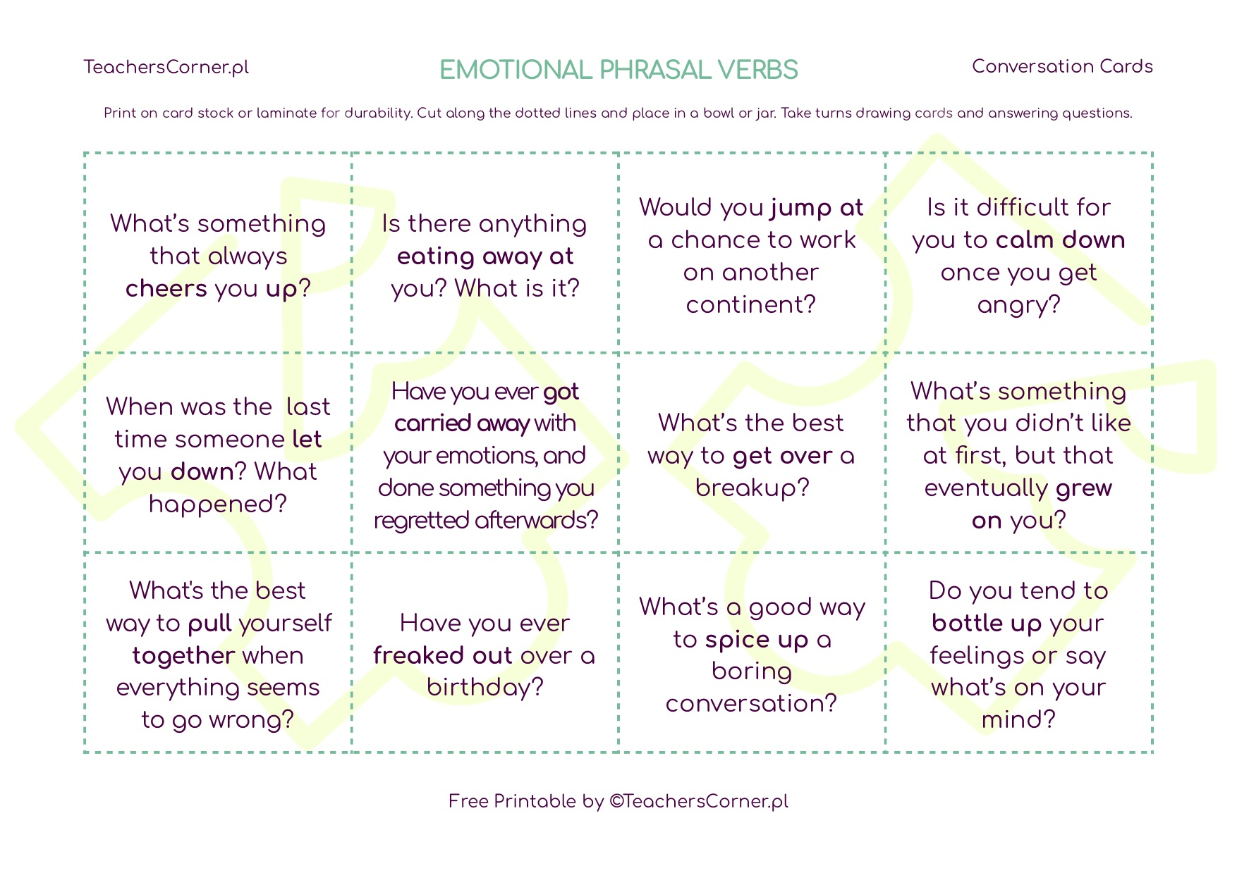 phrasal verbs related to emotions