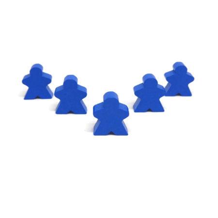 Niebieski pionek ludzik