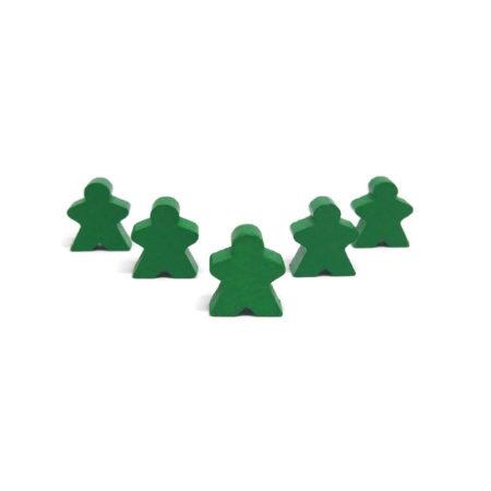 Zielony pionek ludzik