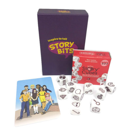 StoryBits i Story Cubes bohaterowie
