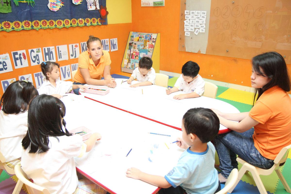zajęcia w indonezyjskim przedszkolu