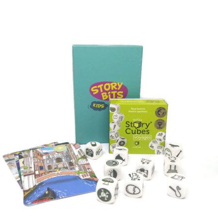 Zestaw StoryBits Kids i Story Cubes: Podróże