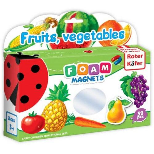 foam magnets fruits, vegetables