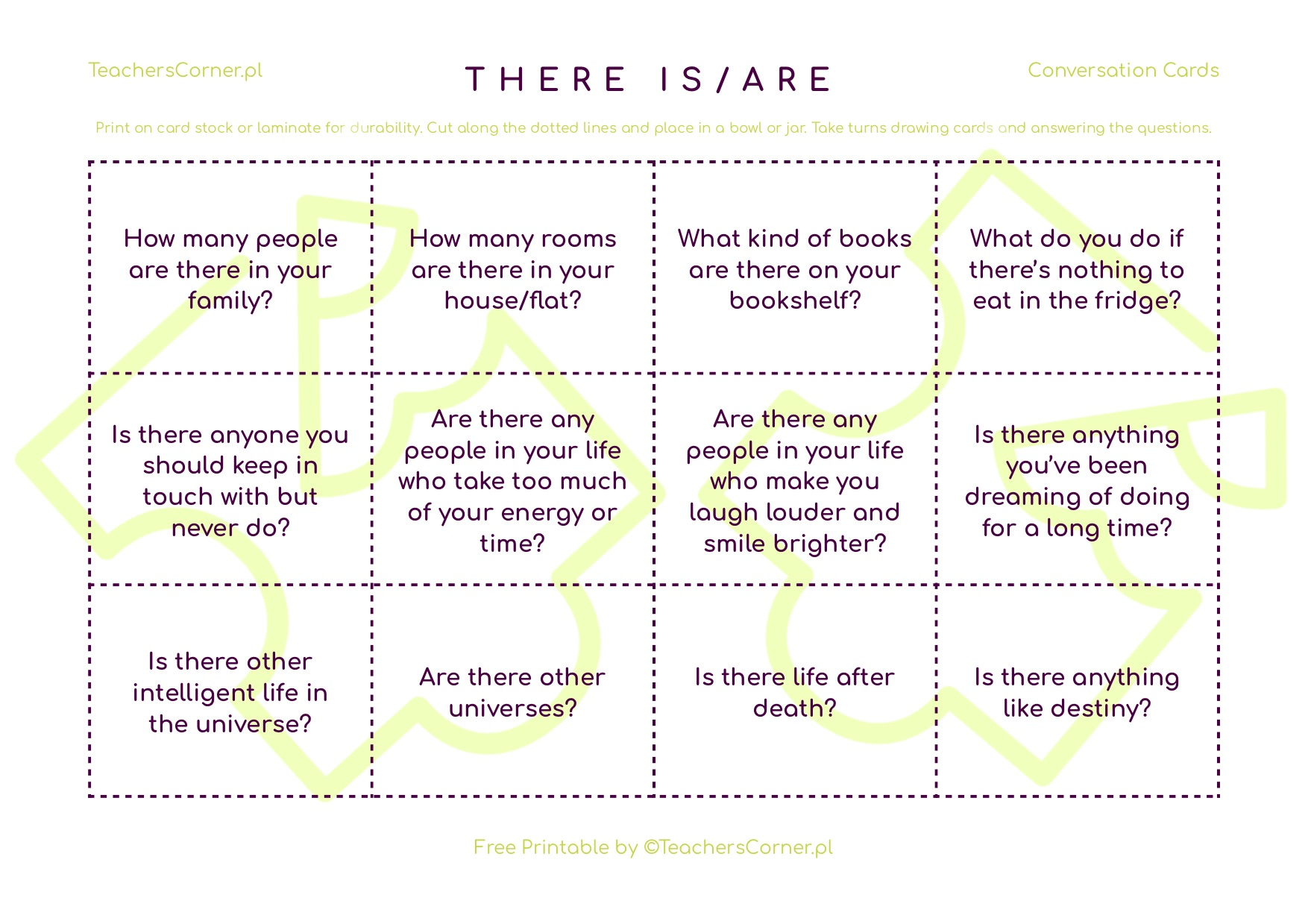 There is/There are Conversation Cards